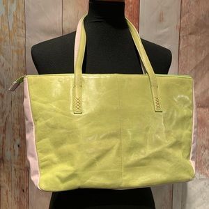 Bright green Sigrid Olsen bag with coin purse